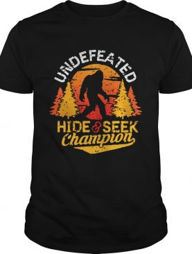 Undefeated hide and seek champion shirt