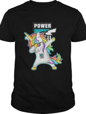 Unicorn dabbing Port Adelaide power shirt