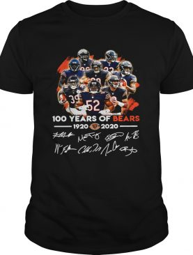 100 years of Chicago Bears 1920 2020 signature shirt