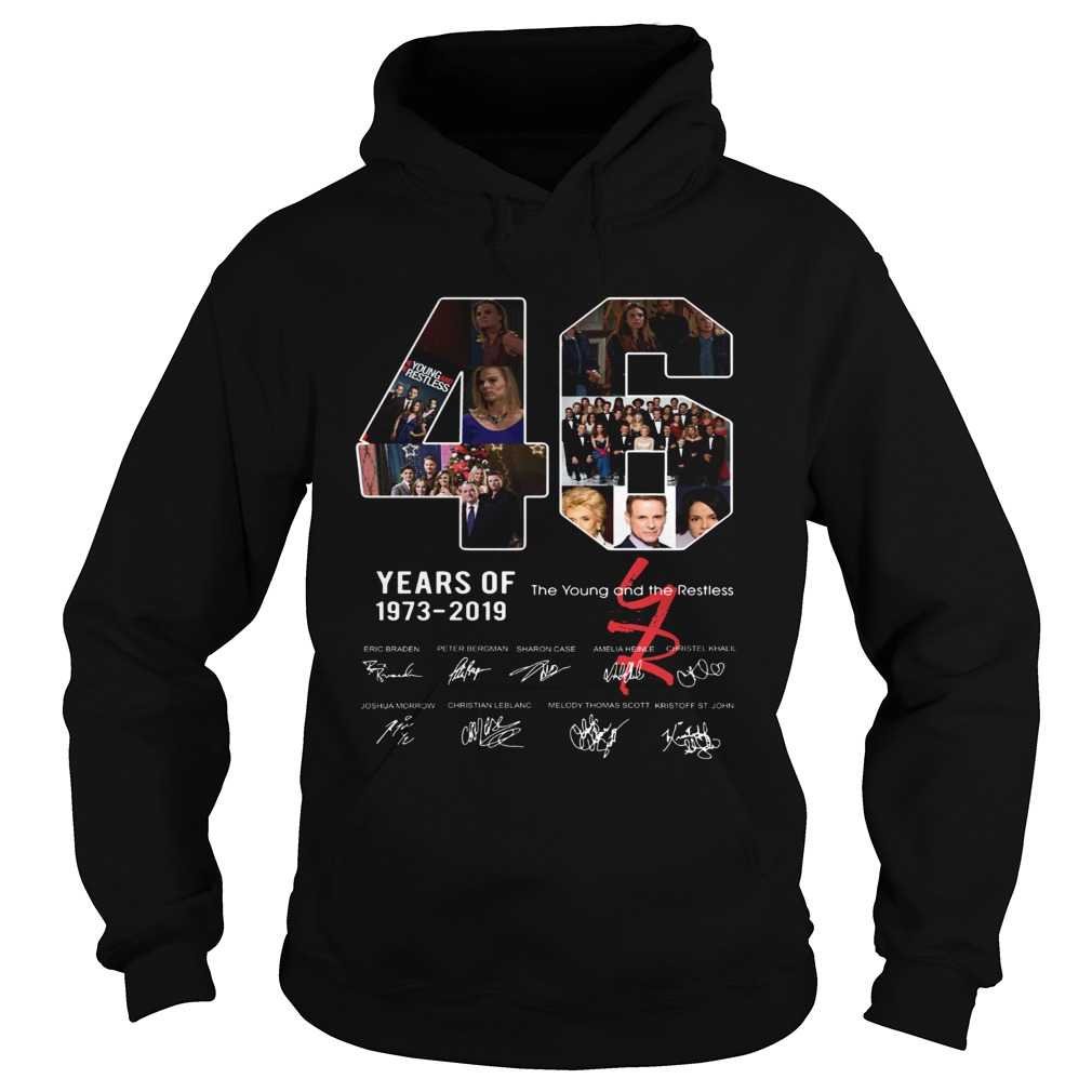 46 years of The Young and the Restless 1973 2019 Hoodie