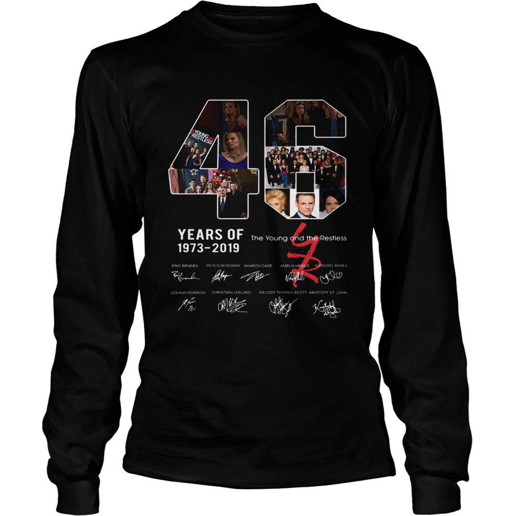46 years of The Young and the Restless 1973 2019 LongSleeve