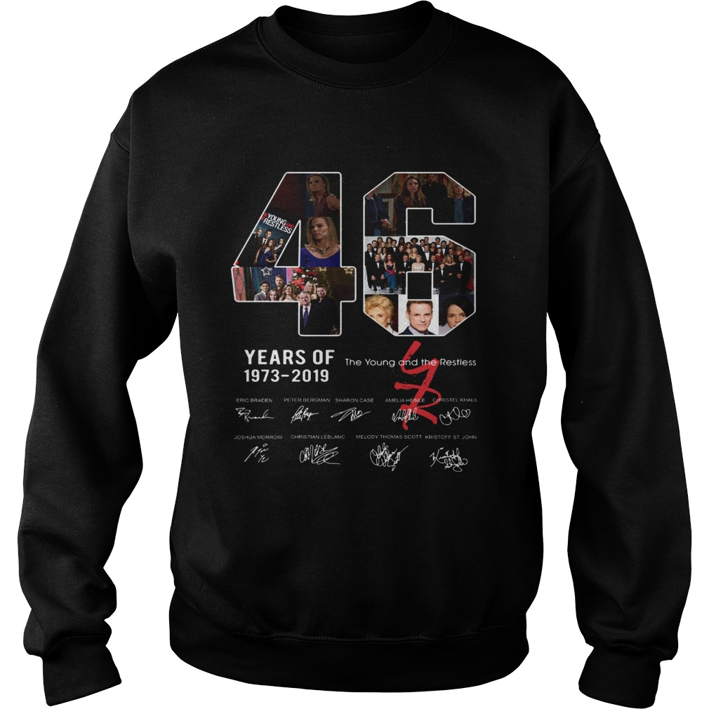 46 years of The Young and the Restless 1973 2019 Sweatshirt