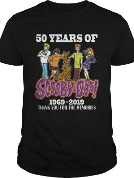 50 years of Scooby Doo 1969 2019 thank you shirt