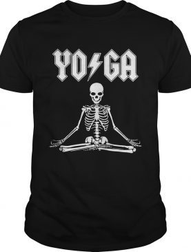 ACDC Yoga skeleton shirt