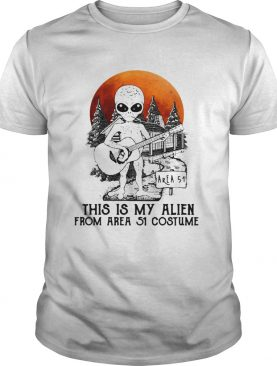 Alien play guitar this is my Alien from Area 51 costume shirt