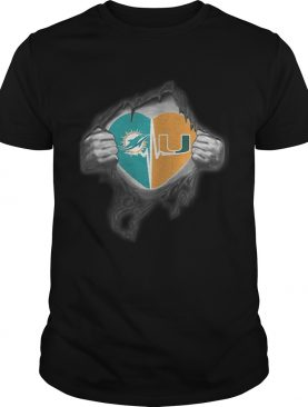 Dolphins Hurricanes Its in my heart inside me shirt