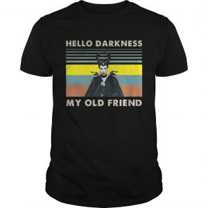 Maleficent hello darkness my old friend vintage shirt
