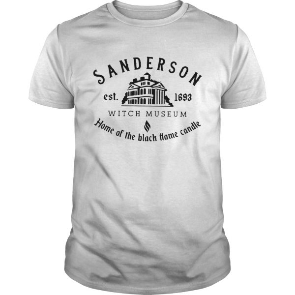 Sanderson Witch Museum home the black hame candle shirt