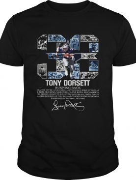 Signature 33 Tony Dorsett Running back shirt