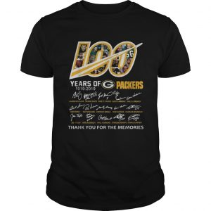 100 Years of Green Bay Packers 19192019 signatures shirt