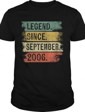 1568288958Legend Since September 2006 13th Birthday Gifts 13 Year Old T-Shirt