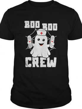 Boo Boo Crew Shirt Ghost Nurse Costume Girls Funny Halloween TShirt