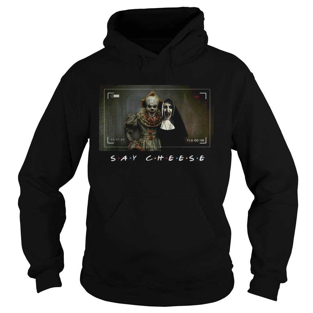 Pennywise and Valak say cheese photo Hoodie