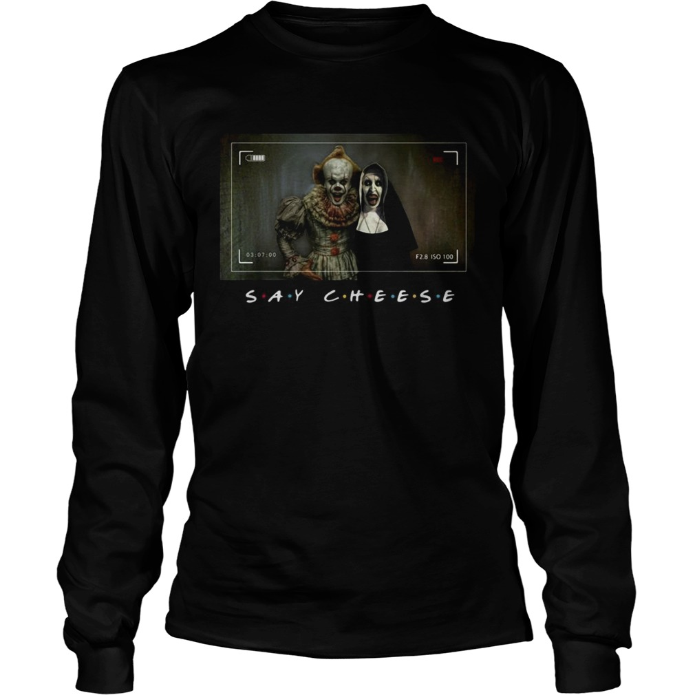 Pennywise and Valak say cheese photo LongSleeve