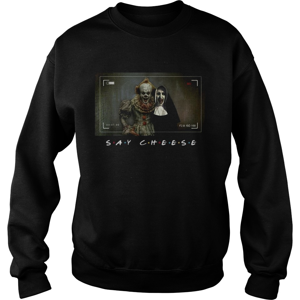 Pennywise and Valak say cheese photo Sweatshirt