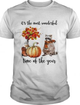 Raccoon its the most wonderful time of the year shirt