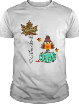Halloween Pumpkin One Thankful Grandma TShirt