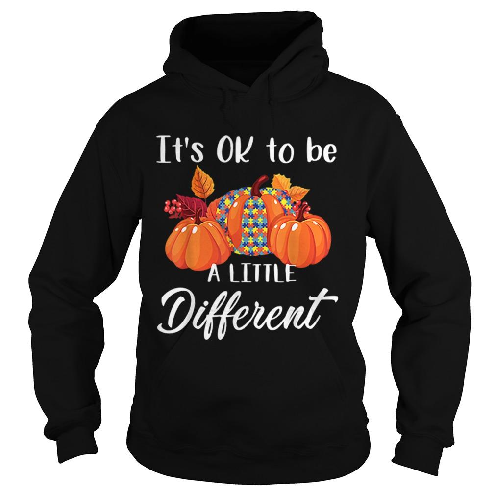 Its Ok To Be A Little Different Autism Pumpkin Hoodie