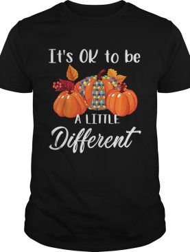 Its Ok To Be A Little Different Autism Pumpkin shirt