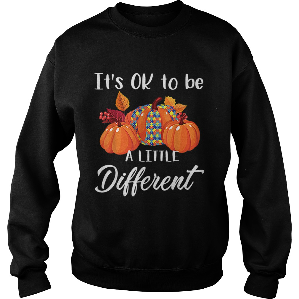 Its Ok To Be A Little Different Autism Pumpkin Sweatshirt