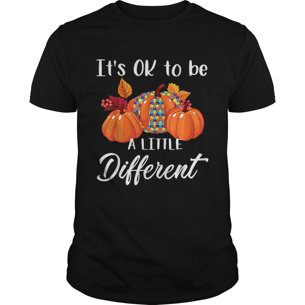 Its Ok To Be A Little Different Autism Pumpkin Unisex