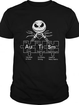 Jack Skellington Autism periodic table shirt