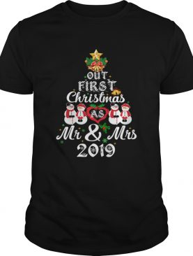 Our First Christmas As Mrs 2019 Newlywed Couple TShirt TShirt
