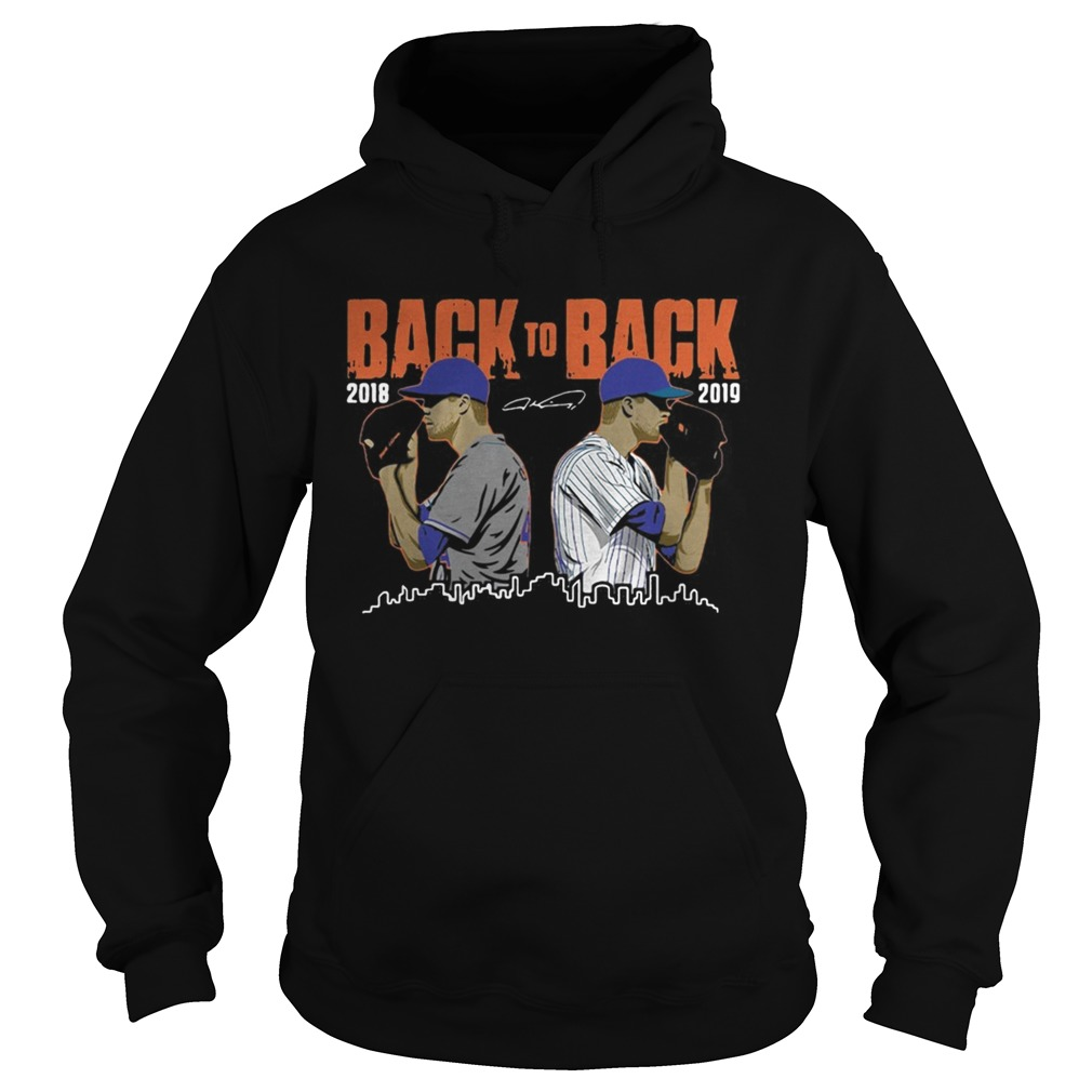 Jacob deGrom New York Mets Back to Back Signatures Hoodie