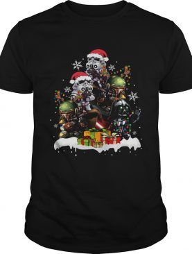 Star Wars Boba Fett Darth Vader Stormtrooper Boba Christmas Tree best shirt