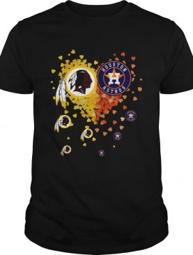 Washington Redskins Houston Astros Its in my heart shirt