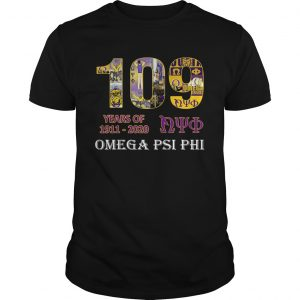 109 Years Of Nyo 1911 2020 Omega PSI PHI shirt