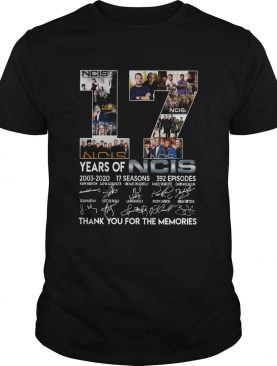 17 Years Of NCIS Thank You For The Memories shirt