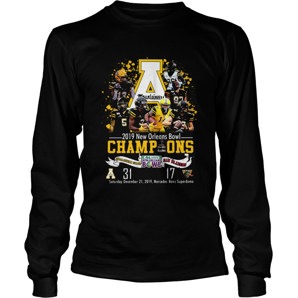 Appalachian State Mountaineers 2019 New Orleans Bowl Champions LongSleeve