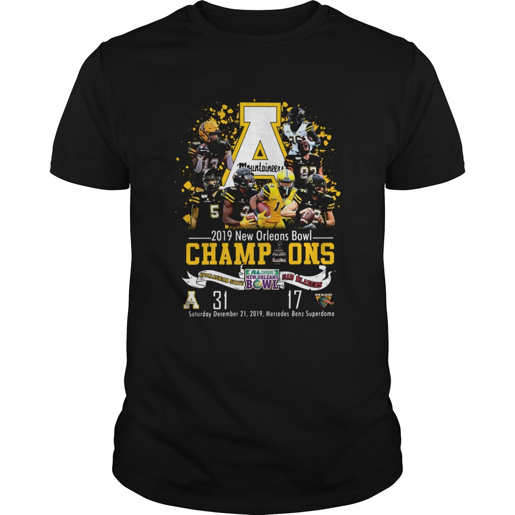 Appalachian State Mountaineers 2019 New Orleans Bowl Champions Unisex