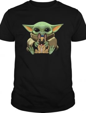 Baby Yoda Hugging German Shepherd shirt