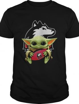 Baby Yoda Hugging Northern Illinois Huskies shirt