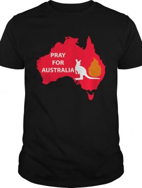 Pray for Australia Kangaroo fire shirt