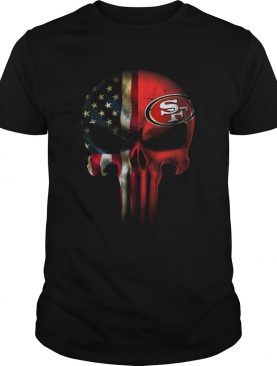 San Francisco 49ers Skull Punisher American Flag shirt