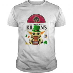 St Patricks Day Baby Yoda Hugging Irish Red Beer George Killians shirt
