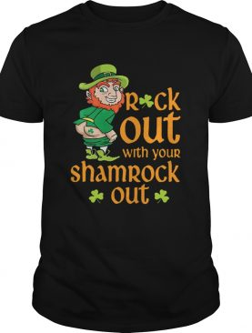 St Patricks Day Leprechaun Rock Out With Your Shamrock Out shirt