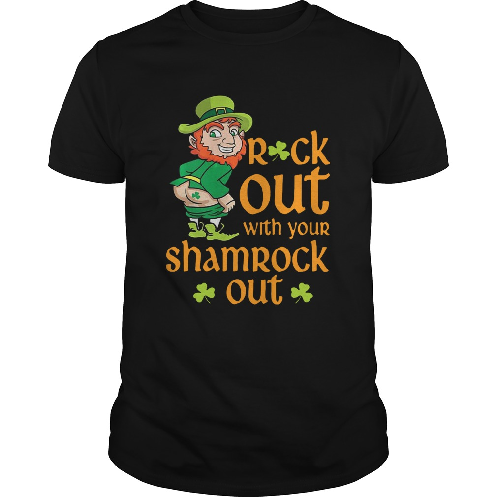 St Patricks Day Leprechaun Rock Out With Your Shamrock Out Unisex