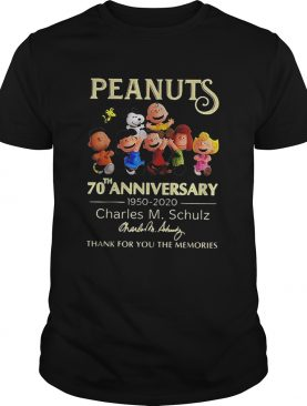 70th anniversary Peanuts Charles M Schulz thank you for memories shirt