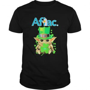 Aflac Baby Yoda stpatricks day shirt