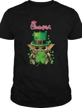 Baby Yoda ChickFilA Shamrock StPatricks Day shirt