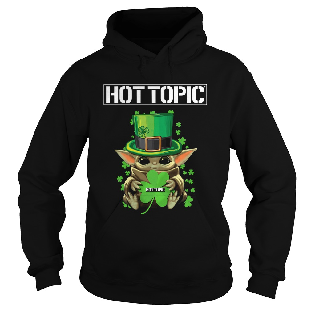 Baby Yoda Hottopic Shamrock StPatricks Day Hoodie