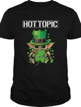 Baby Yoda Hottopic Shamrock StPatricks Day shirt