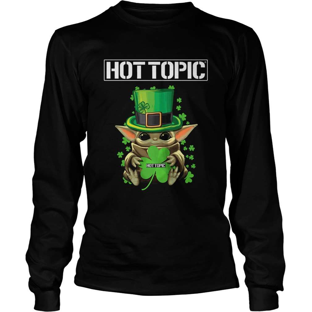 Baby Yoda Hottopic Shamrock StPatricks Day LongSleeve