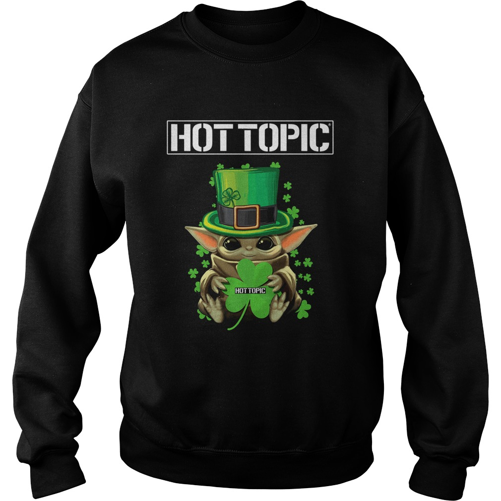 Baby Yoda Hottopic Shamrock StPatricks Day Sweatshirt
