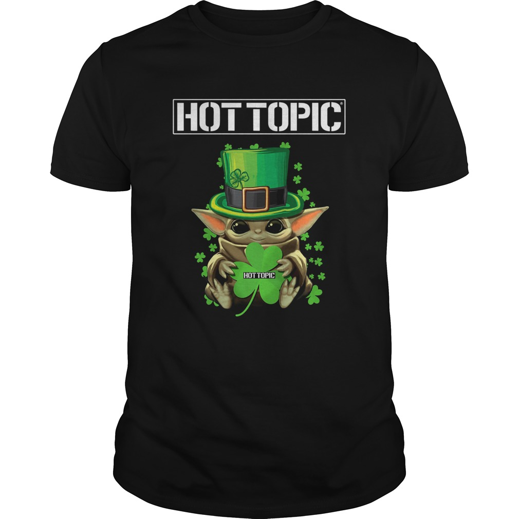 Baby Yoda Hottopic Shamrock StPatricks Day Unisex