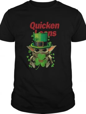 Baby Yoda Quicken Loans Shamrock St Patricks Day shirt